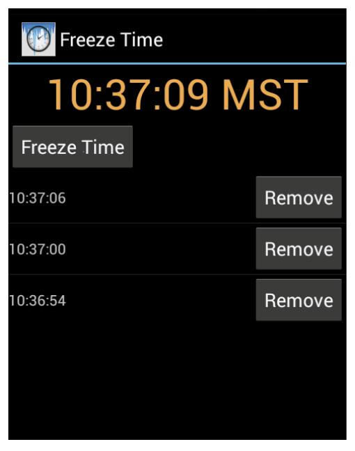Freeze Time app